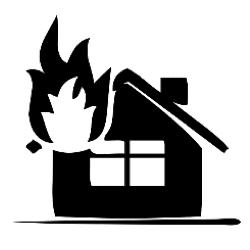 icone maison feu